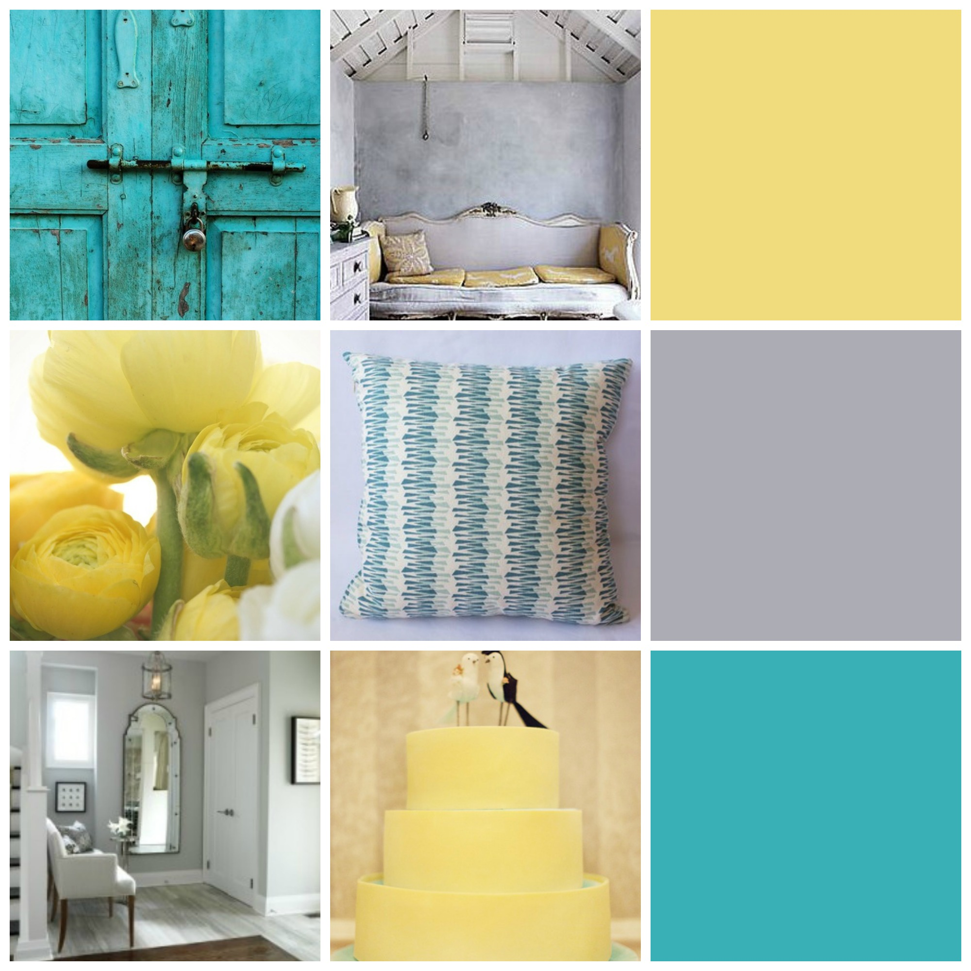 yellow and teal bedroom, Bedroom decor